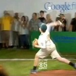 Pitch controlled by robot and Google