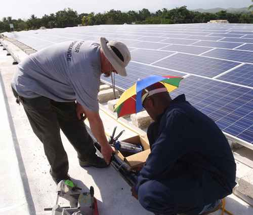 Solar training Haiti hospital-PIHorg