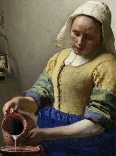 Vermeer The Milkmaid-Rijksmuseum