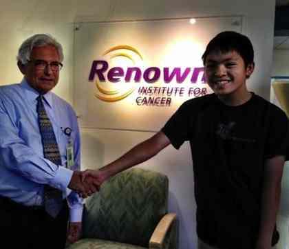 boy donates - RENOWN CANCER INSTITUTE photo
