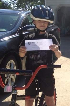 helmeted boy Brimfield Police FBPage