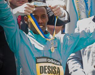 medalist Boston Marathon-Lelisa Desisa