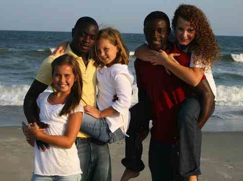 orphans Liberia NC family photo