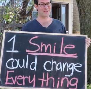 smiles on Ayden Byle chalkboard -Toronto Star video