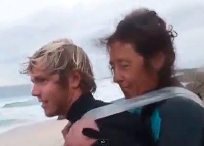 surfer duct-taped mom-video