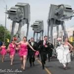 wedding party chased by Snowwalkers