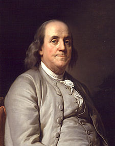 Ben Franklin portrait by Joseph Siffred Duplessis