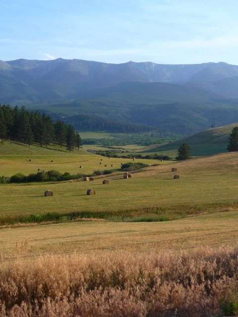 Montana ranch and mountains
