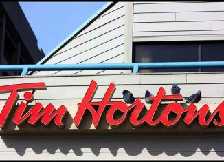 Tim Hortons coffee sign by Iguanasan-CC-Flickr