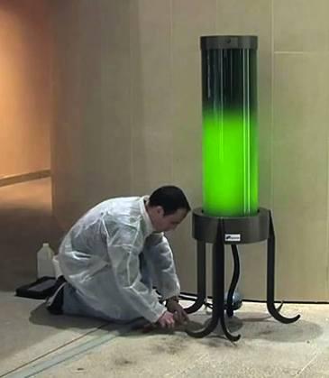 algae lamp biochemist Pierre Calleja-ShamengoPhoto