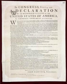 Declaration of Independence - Dunlap