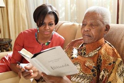 Mandela Foundation photo with Michelle Obama