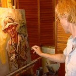 painting a US soldier, Kaziah by KARE-TV 11