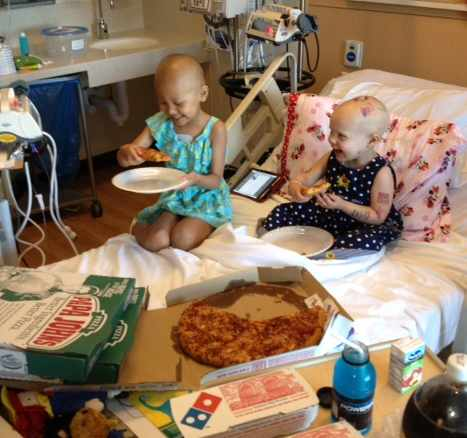 pizza party for cancer toddlers in hospital-OurLittlHazlenut