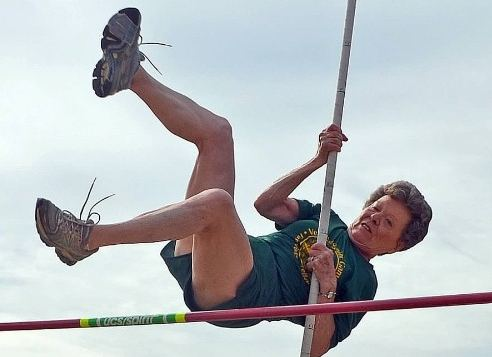 pole vaulting granny-by Marvin Hill Humana