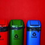 recycling bins on red-Rafa from Brazil-CC-Foter