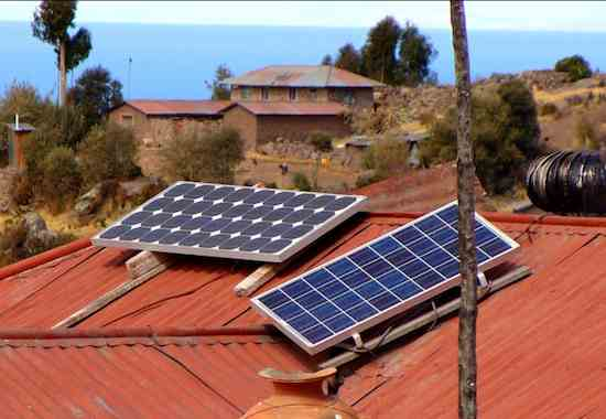 solar panels on Peruvian shack-Julia Manzerova-CC-Flickr