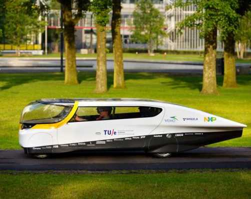 solar sedan is Dutch student prototype
