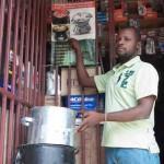Eco Recho stove founder in Haiti