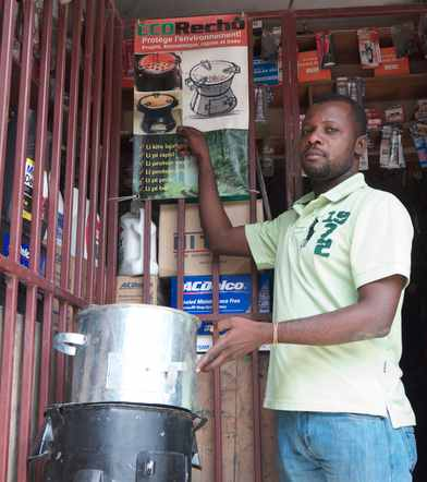 Eco Recho stove founder in Haiti