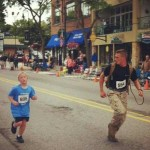 Marine races with boy lost in 5K