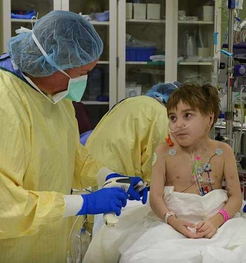 Surgeon and little boy-Robert Maddox-Mayo Clinic photo