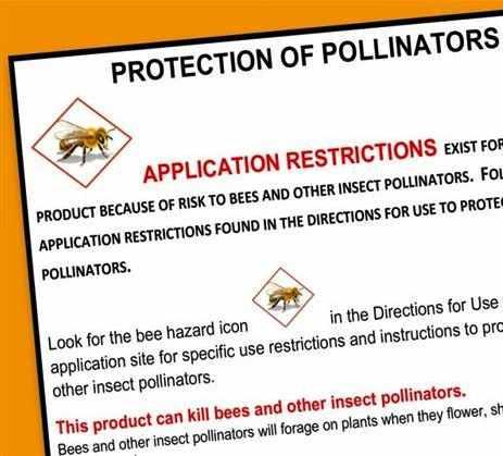 bee advisory label EPA