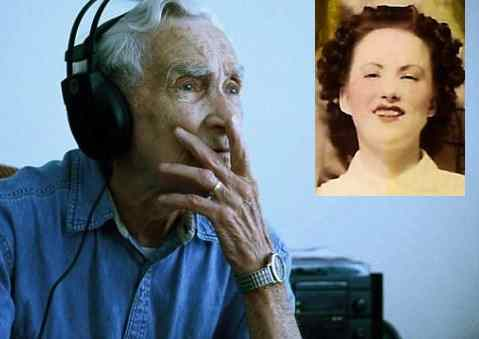 elderly songwriter Fred Stobaugh dreams of wife-GreenShoeStudios