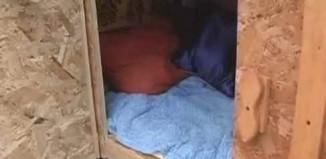 homeless micro-shelter