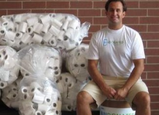 toilet paper leftovers for Bin Donated