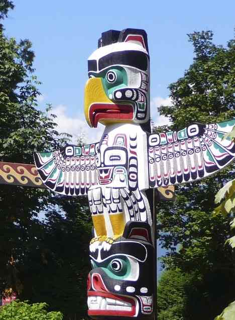 totem pole in Canada