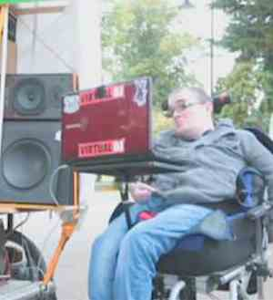 DJ career for quadriplegic