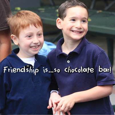 Friendship is so chocolate bar