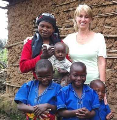 Rwandan family w BC Professor-UNICCEF