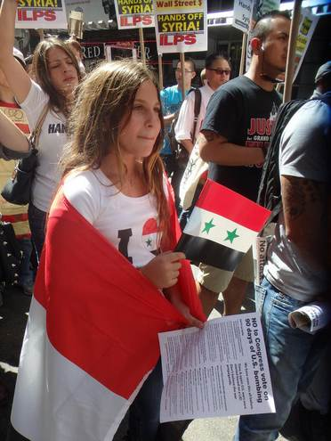 Syria protestor in NYC- by The Eyes Of New York via Flickr CC