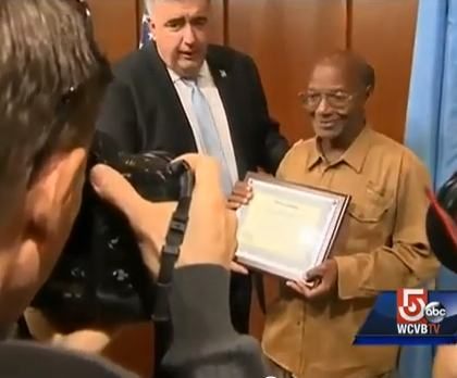 homeless man gets citation for honesty