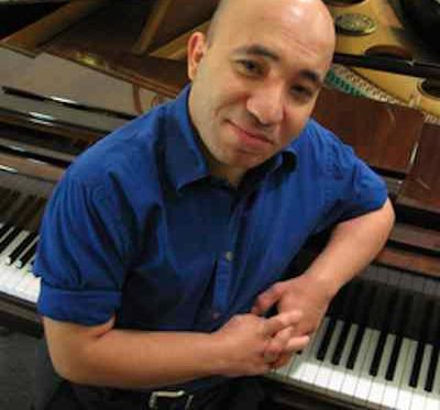 piano player Wael Farouk - Rutgers Photo