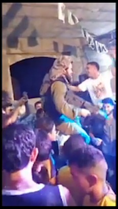 soldier dances with Palestinians-YouTube