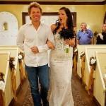 Bon Jovie walks bride down aisle