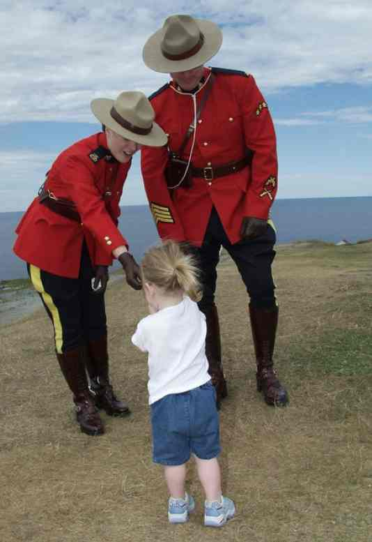 Canadian Mounted Police give to toddler FB RCMP