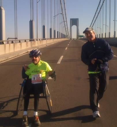 Marathon AWD Bill Reilly with guide Harold