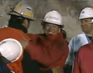 Chilean miner rescued - Chilean broadcast feed