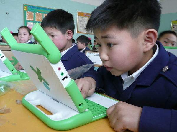 classroom in Mongolia-One Laptop Per Child