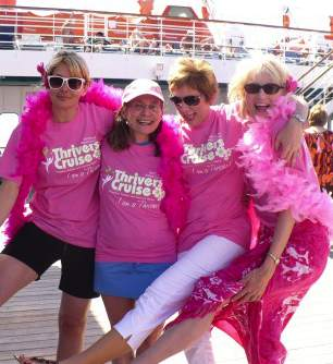 pink breast cancer cruising women
