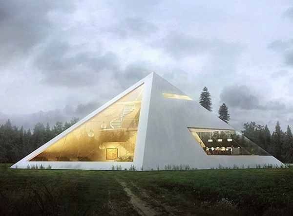 home garage shop ideas - Design of the Future Architect Imagines Amazing Pyramid