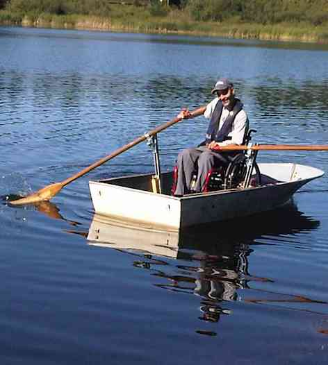 row boat Paul winkler wheelchair