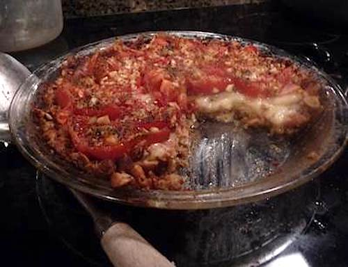 tomato tort cut open