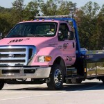 tow truck is pink for cancer awareness-AAAphoto