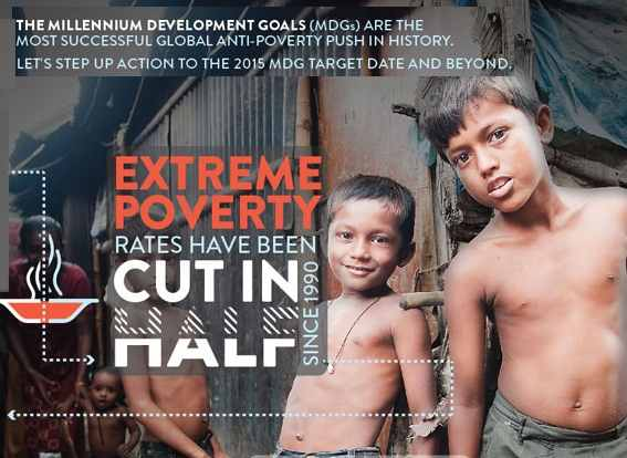 world poverty cut in half
