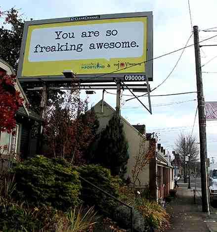 Awesome billboard - The Joy Team